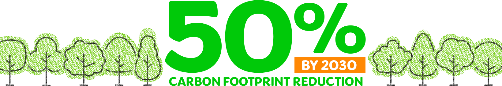 50% carbon footprint reduction by 2030.