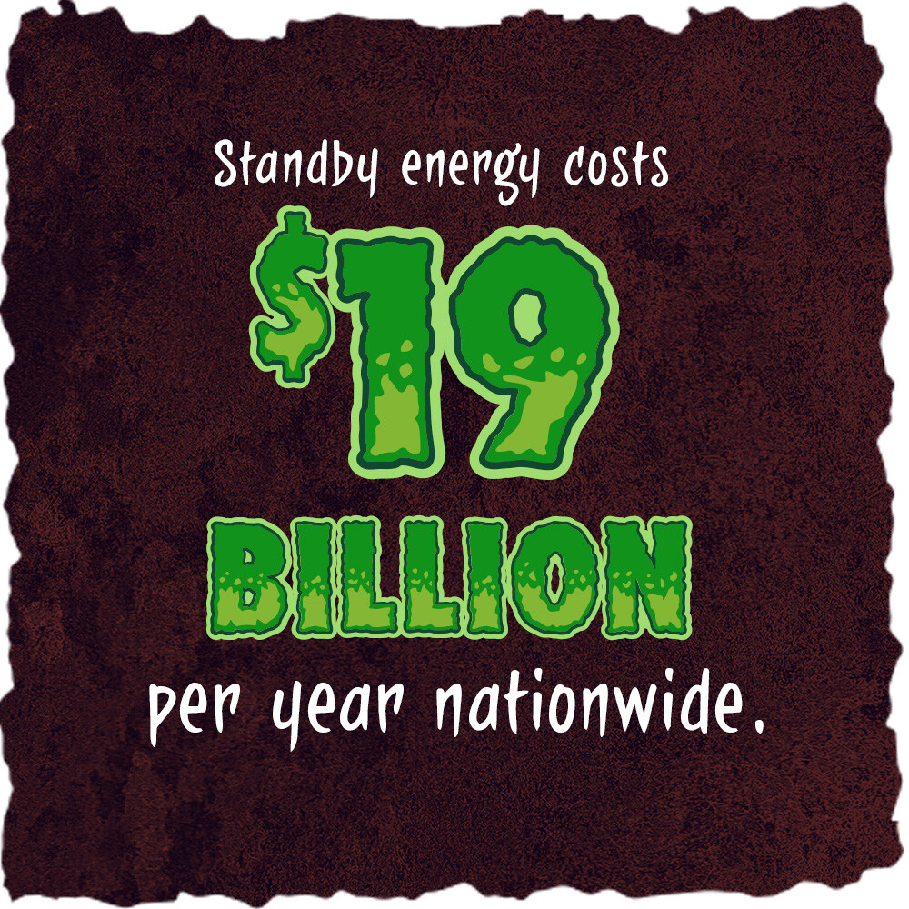 Standby energy costs $19 billion per year nationwide