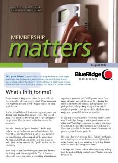 Membership MattersAugust 2017