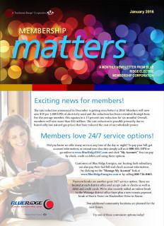 Membership MattersJanuary 2016