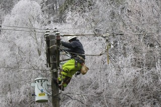 Linemen are working to restore power