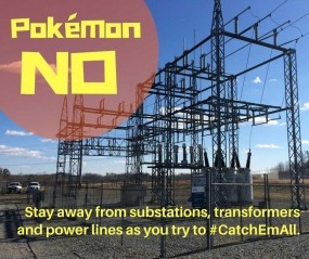 Have fun but stay far away from substations and other electrical equipment!