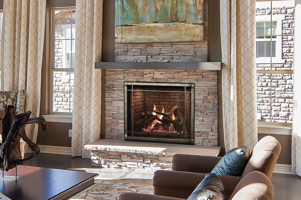 Rushmore Direct-Vent Fireplace with TruFlame Technology
