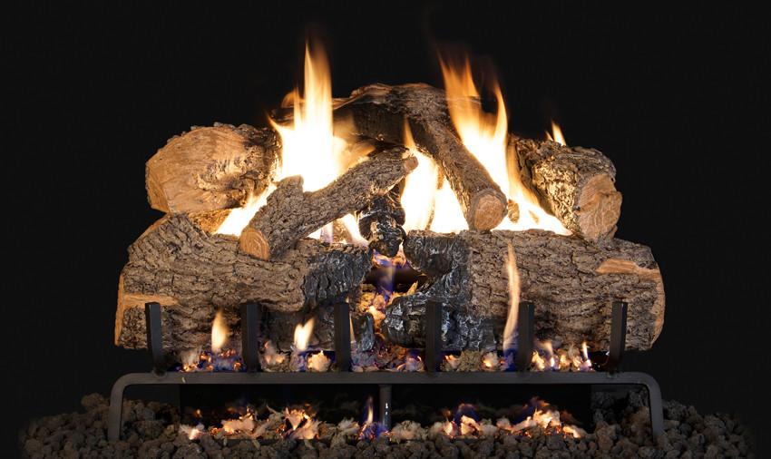 Charred Angel Oak Gas Logs w/ G31 Burner