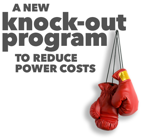 A new knock-out program to reduce power costs
