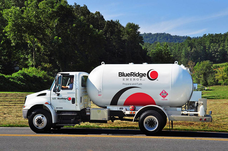 Blue Ridge Energy Propane and Fuels delivery truck